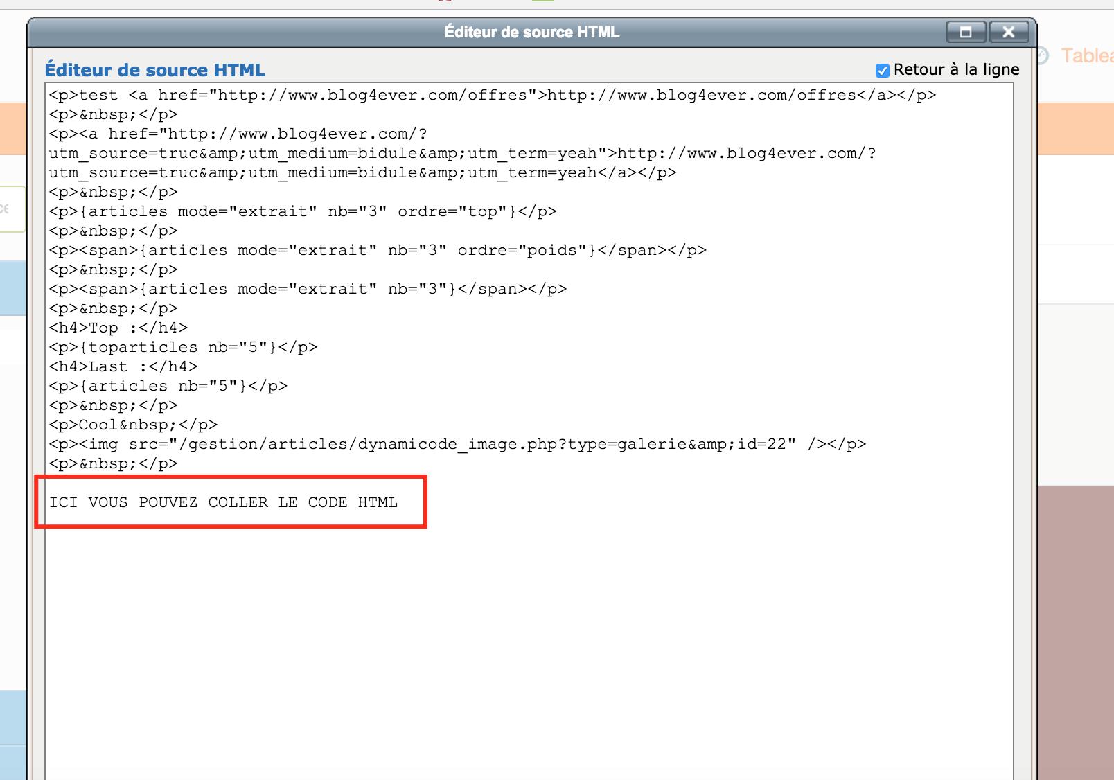 Comment Inserer Un Bout De Code Sur Son Blog Guide Blog4ever