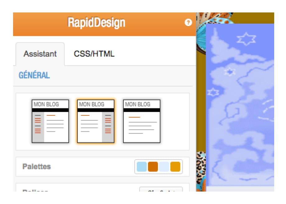 L'outil de personnalisation de design